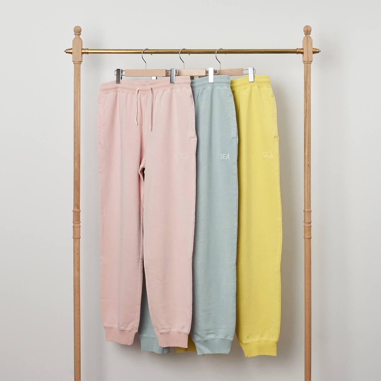 WIND AND SEA<BR>SEA (pigment-dye) Sweat pants