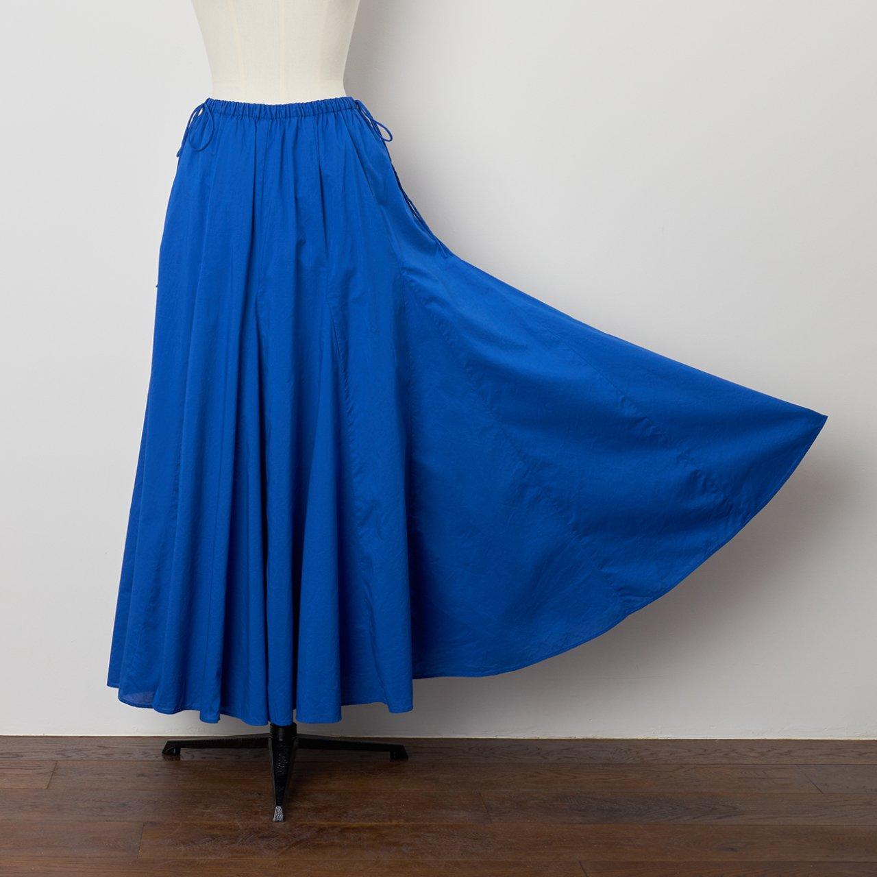 Pale Jute<BR>flare skirt <BR>blue