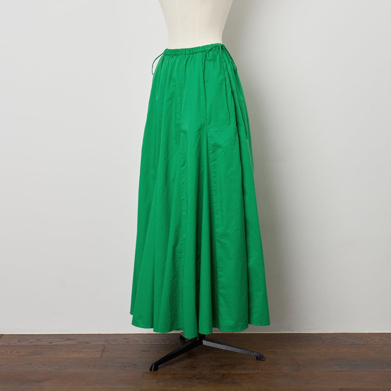 Pale Jute<BR>flare skirt <BR>green