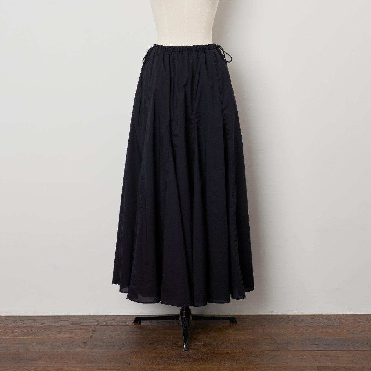 Pale Jute<BR>flare skirt <BR>black