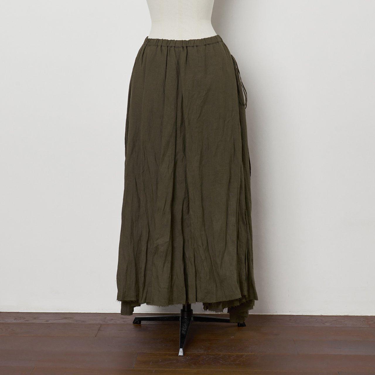 suzuki takayuki<BR>long skirt �<BR>Khaki