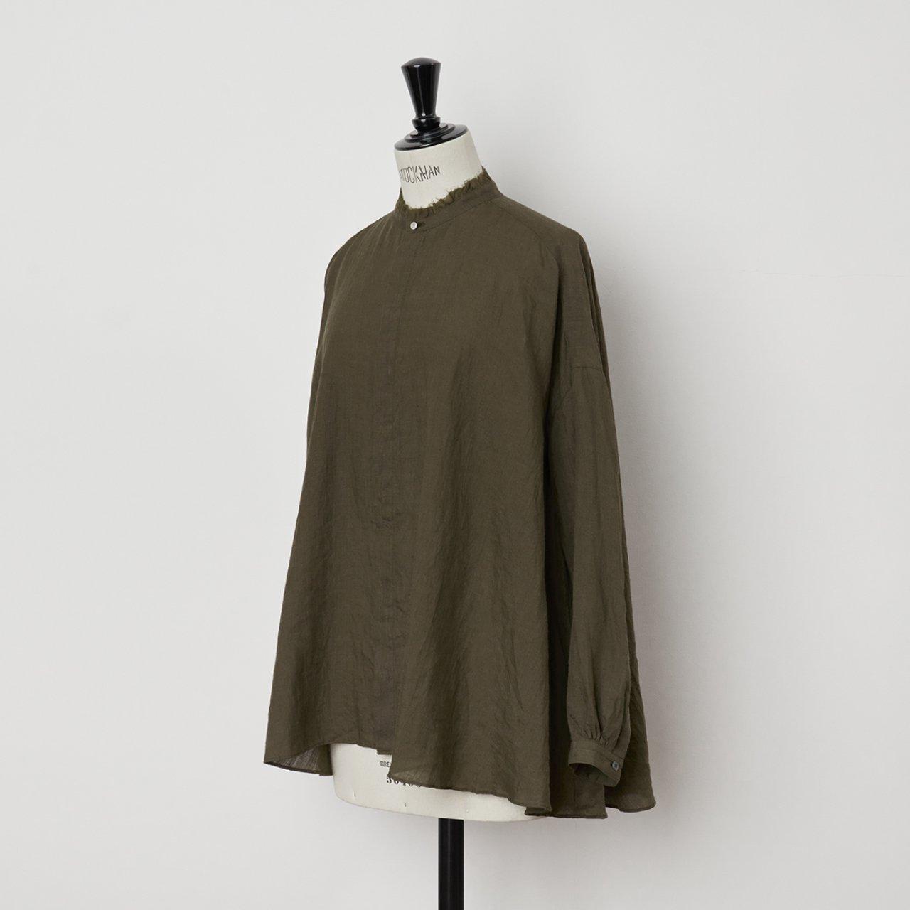 suzuki takayuki<BR>flared  blouse<BR>Khaki