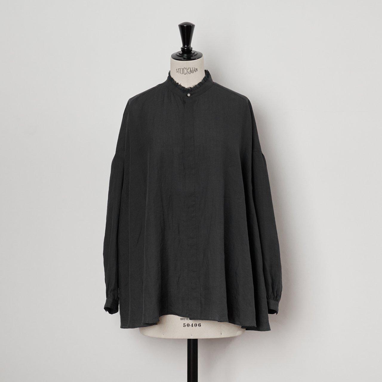 suzuki takayuki<BR>flared  blouse<BR>Black