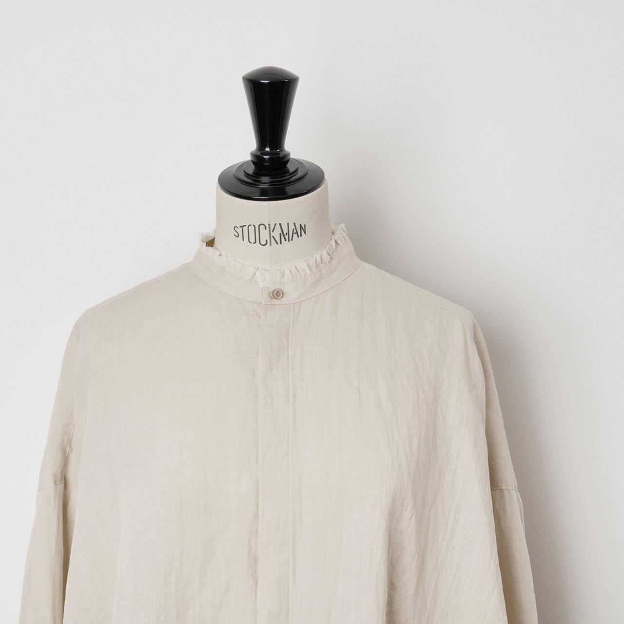 suzuki takayuki<BR>flared  blouse<BR>Beige
