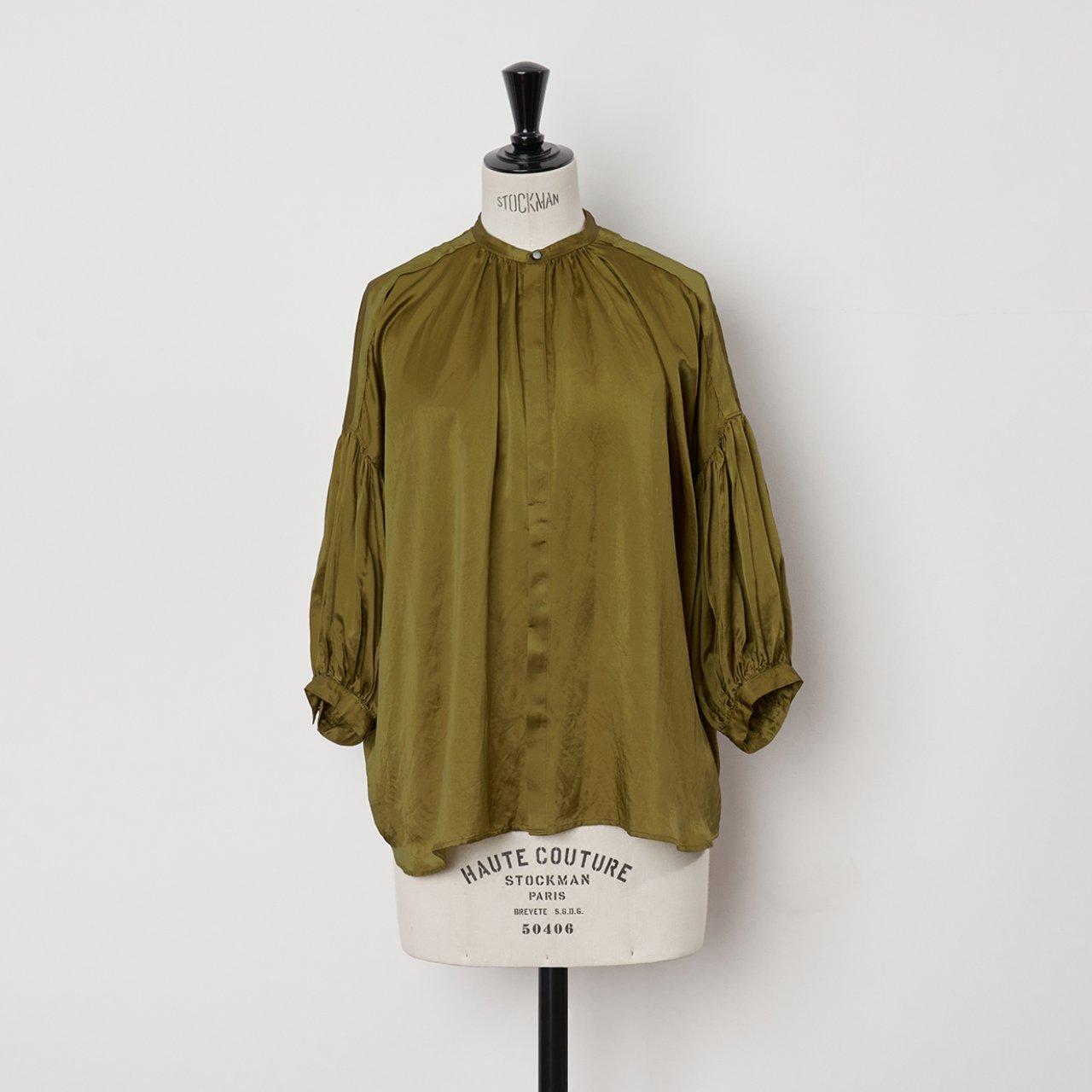 suzuki takayuki<BR>puff sleeve blouse<BR>Khaki