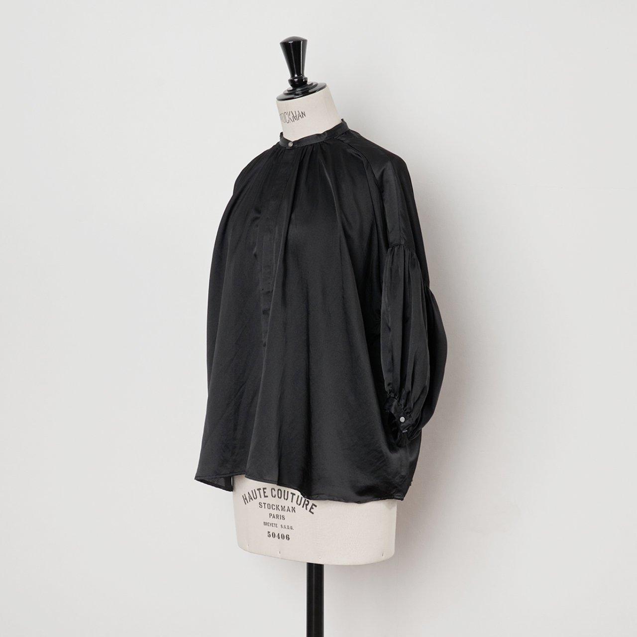 suzuki takayuki<BR>puff sleeve blouse<BR>Black