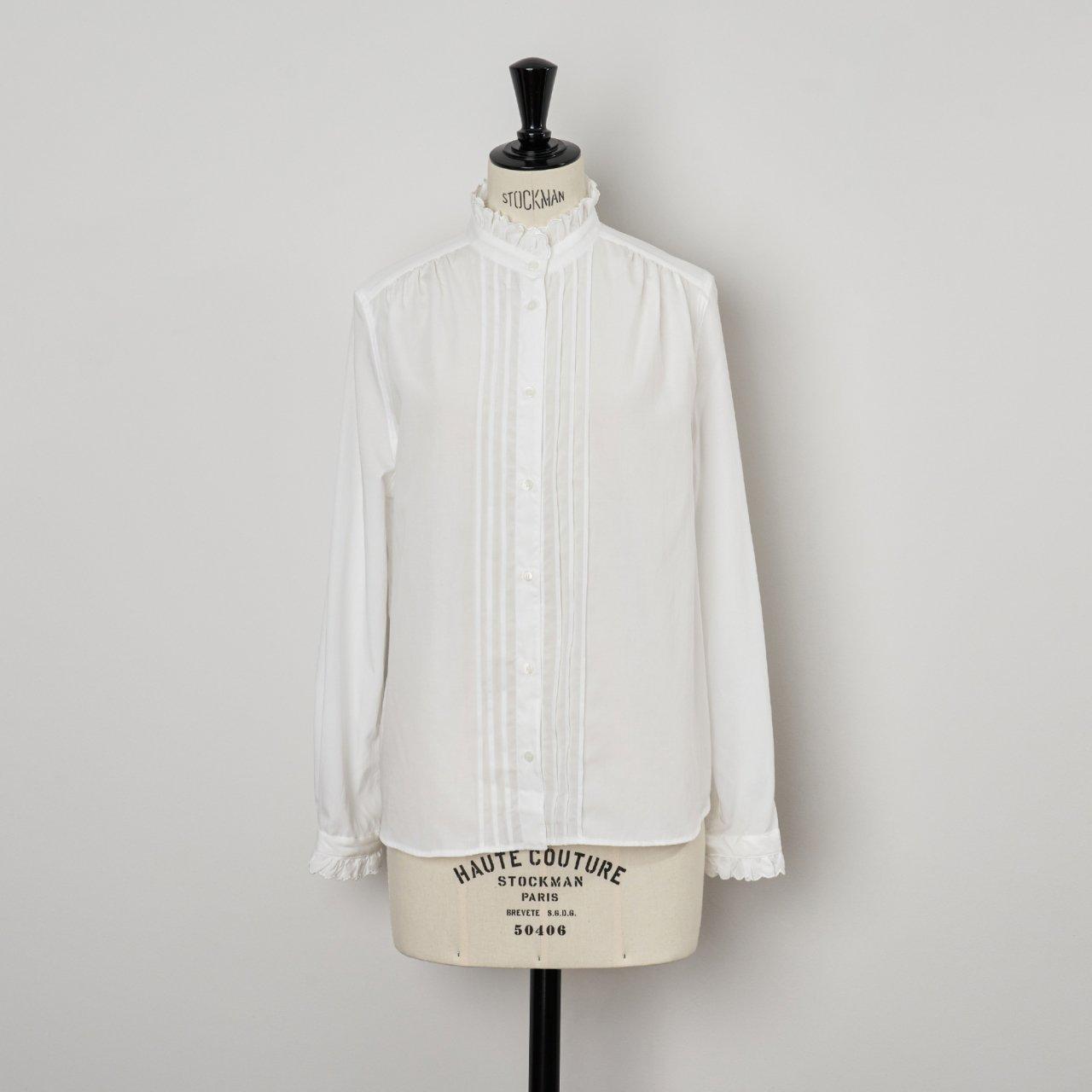 SINME<BR>スカラエンブロイダリーシャツ<BR>ホワイト×ホワイト