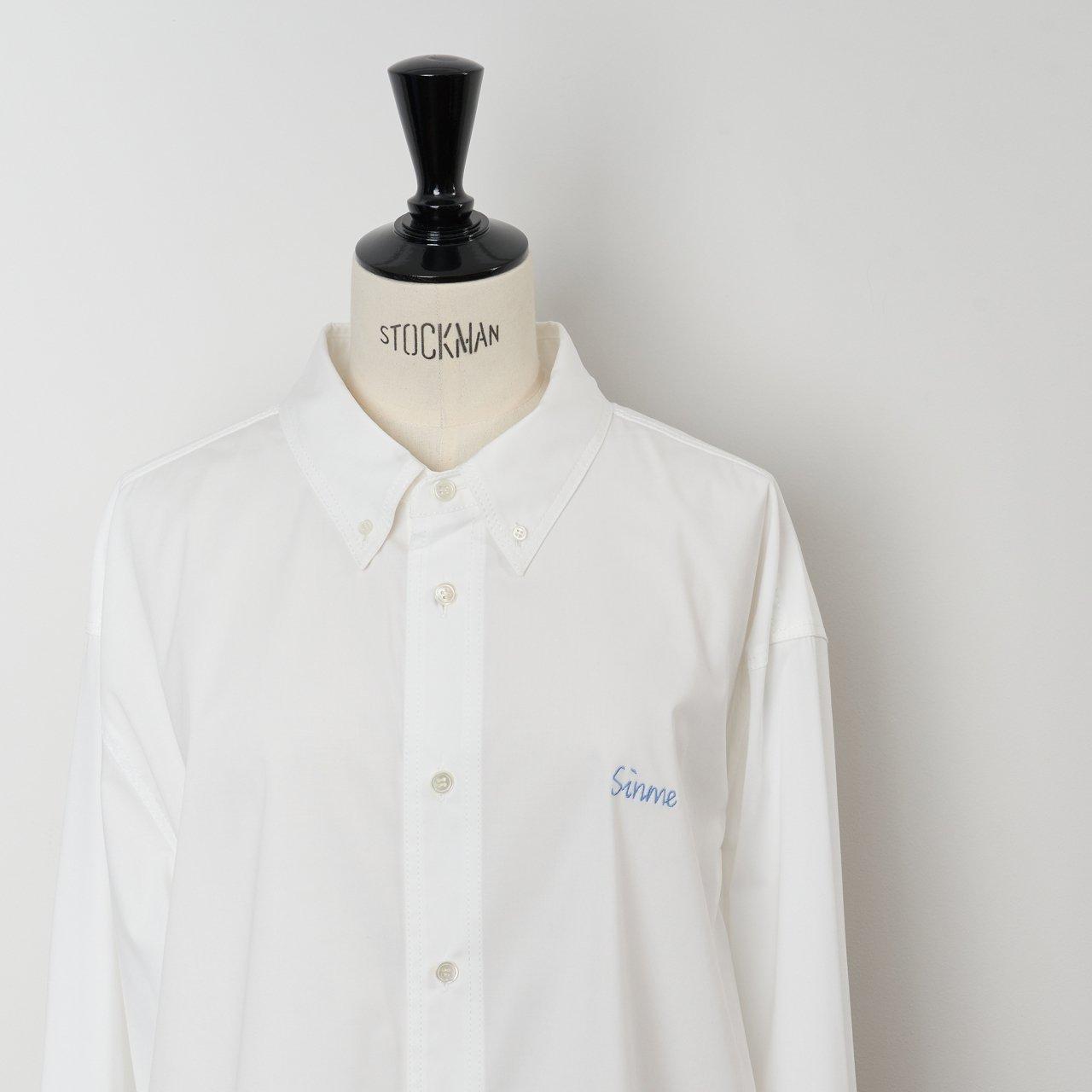 SINME<BR>オーバーサイズシャツ<BR>オフ×サックス