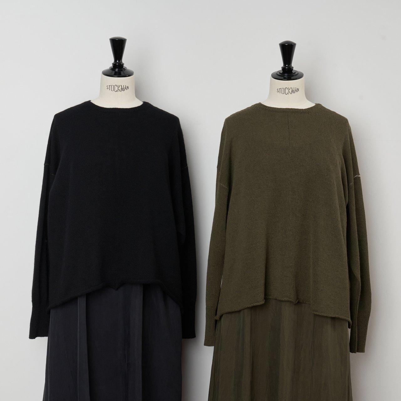 suzuki takayuki<BR>knitted pullover<BR>black ・khaki