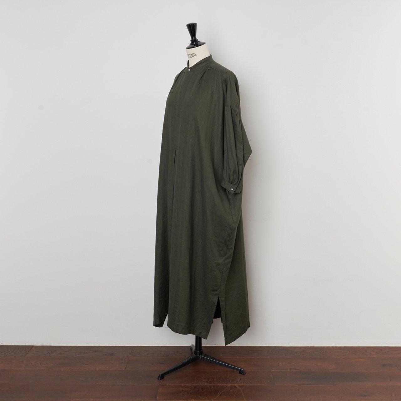 suzuki takayuki<BR>peasant dress<BR>khaki