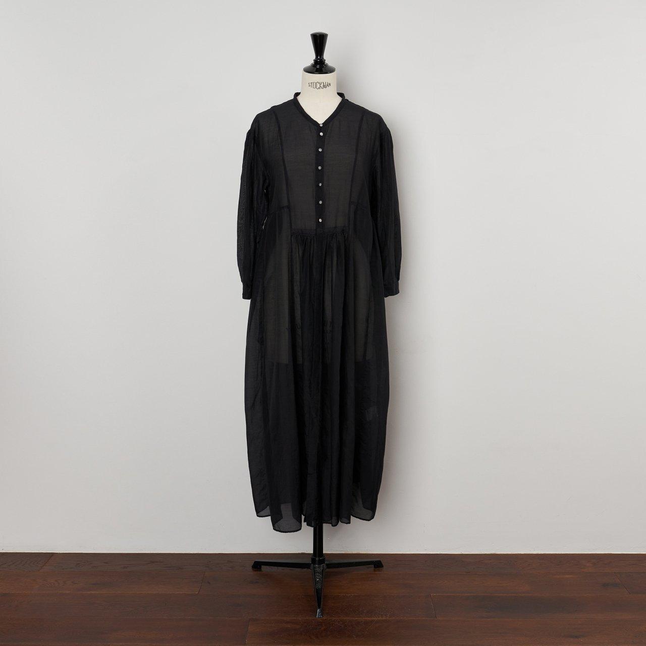 suzuki takayuki<BR>gathered dress<BR>black