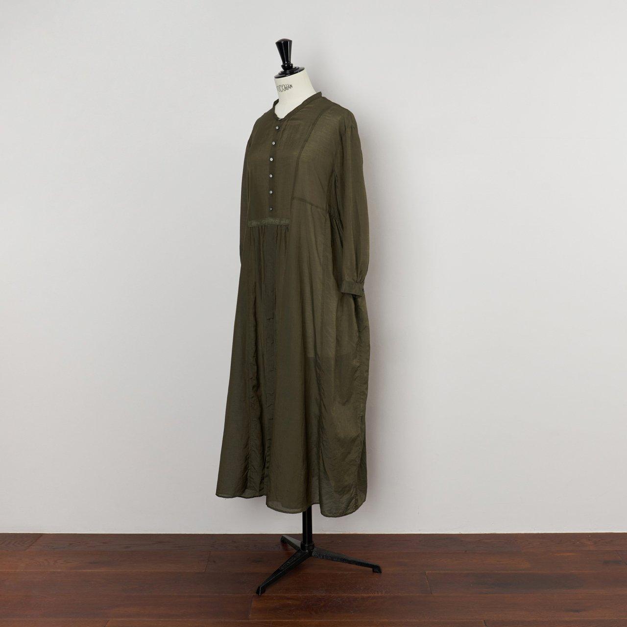 suzuki takayuki<BR>gathered dress<BR>khaki