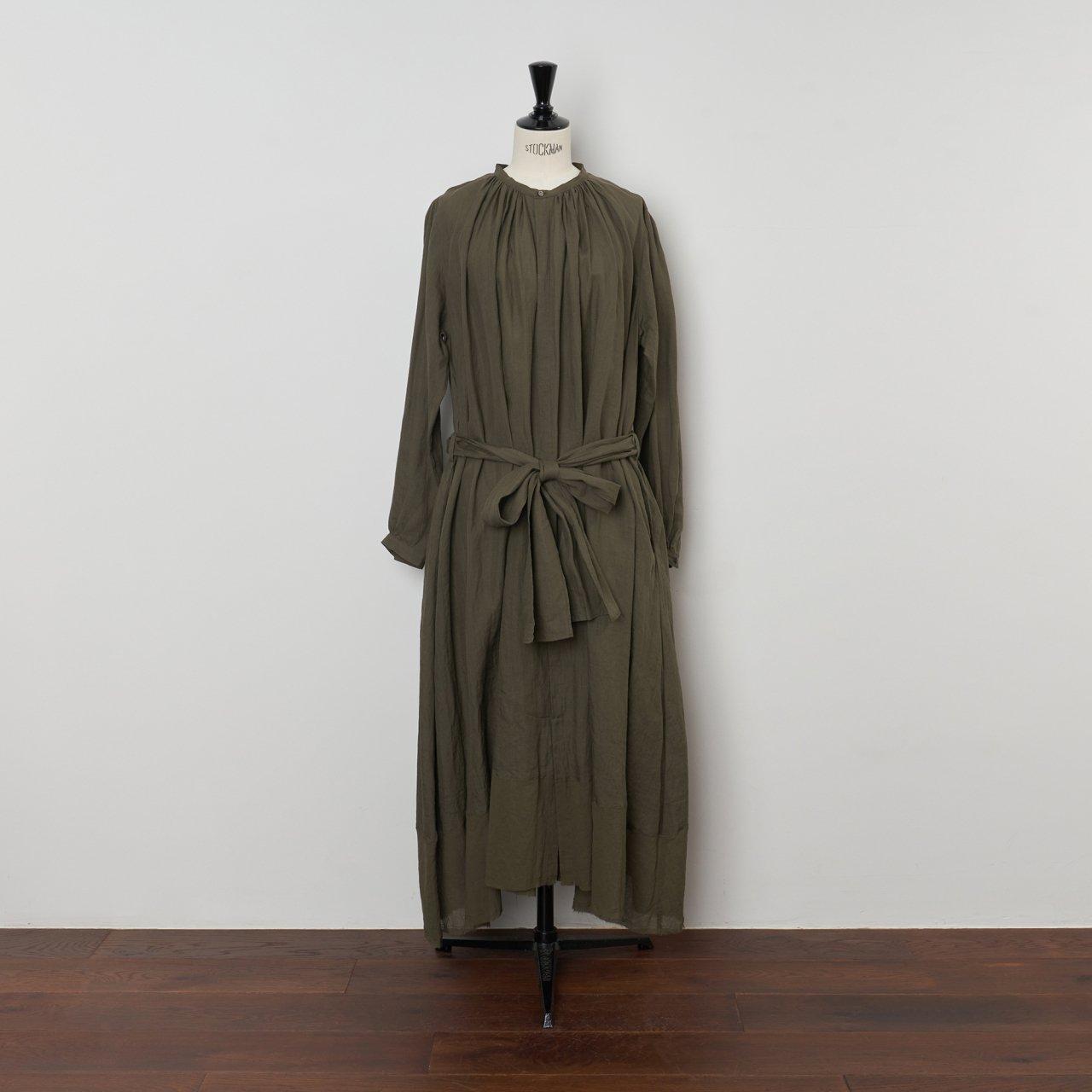suzuki takayuki<BR>flared dress<BR>khaki