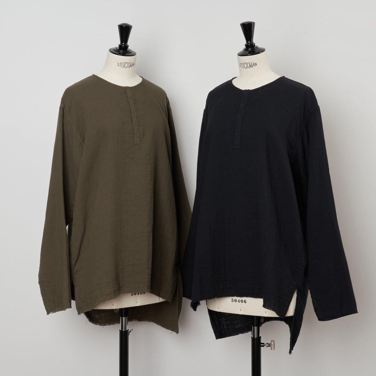suzuki takayuki<BR>gauze shirt<BR>khaki ・black
