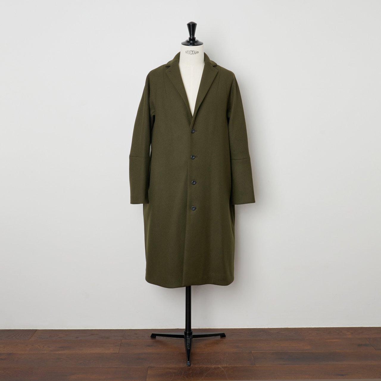 suzuki takayuki<BR>tailored collar coat<BR>khaki