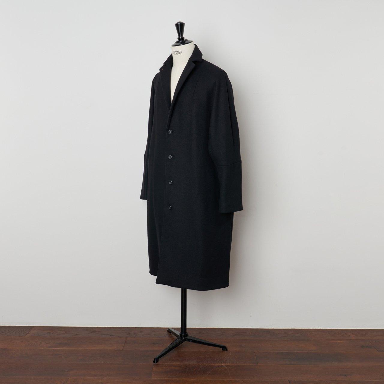 suzuki takayuki<BR>tailored collar coat<BR>black