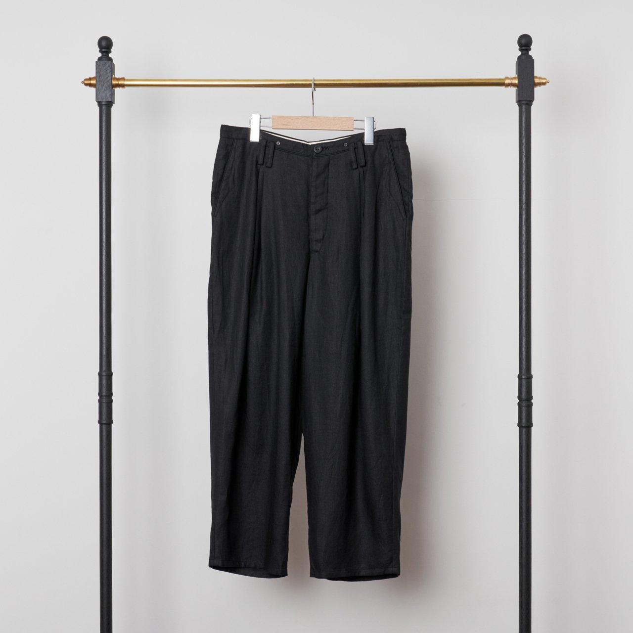 suzuki takayuki<BR>wide legged pants �<BR>Black