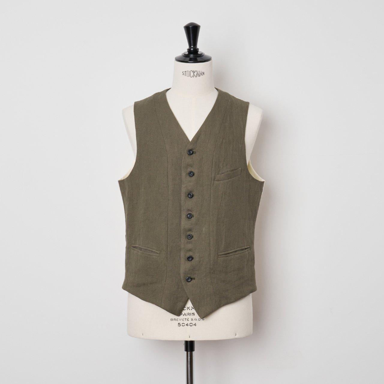 suzuki takayuki<BR>waistcoat �<BR>Khaki
