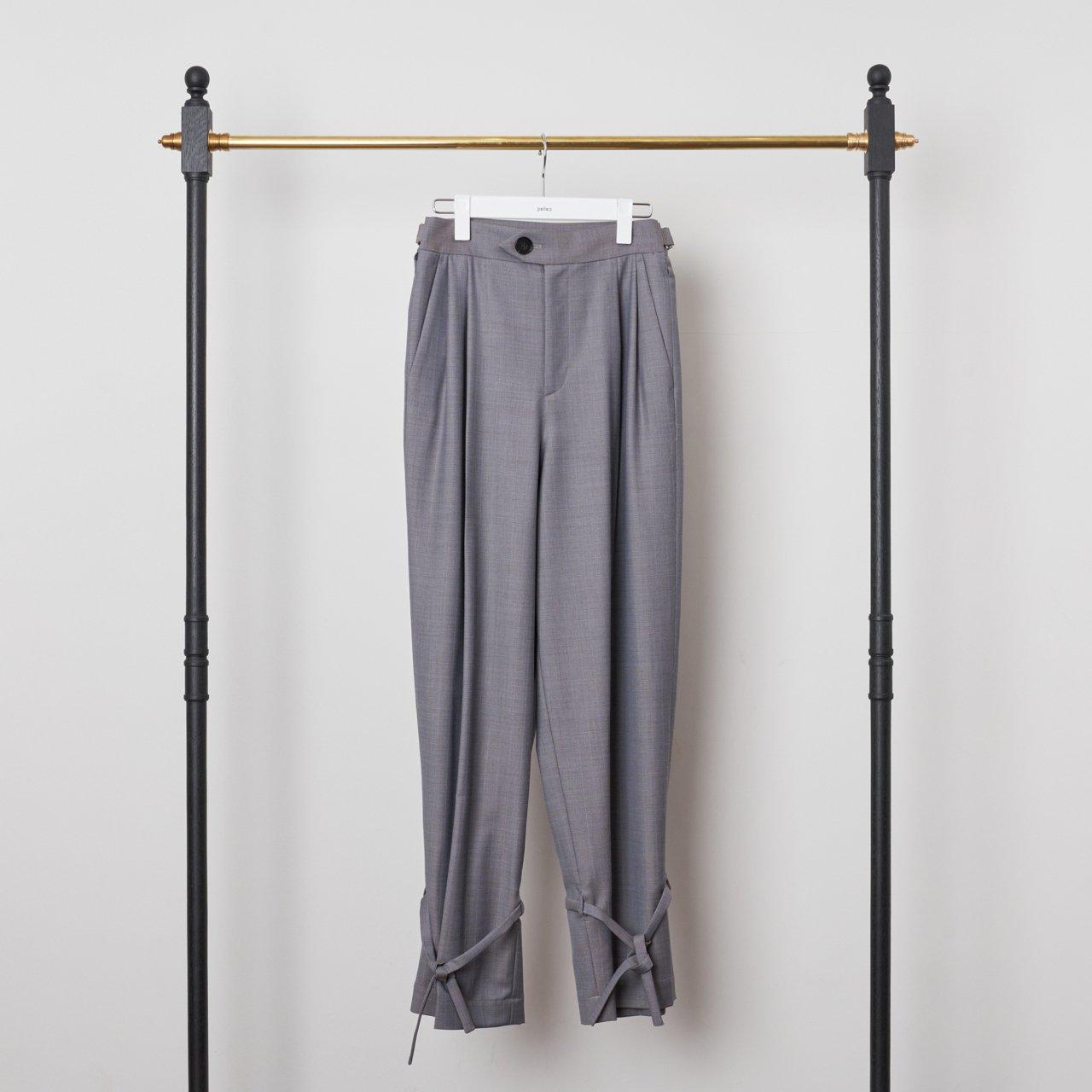 pelleq<BR>MINOVA hem string trousers<BR>5gray