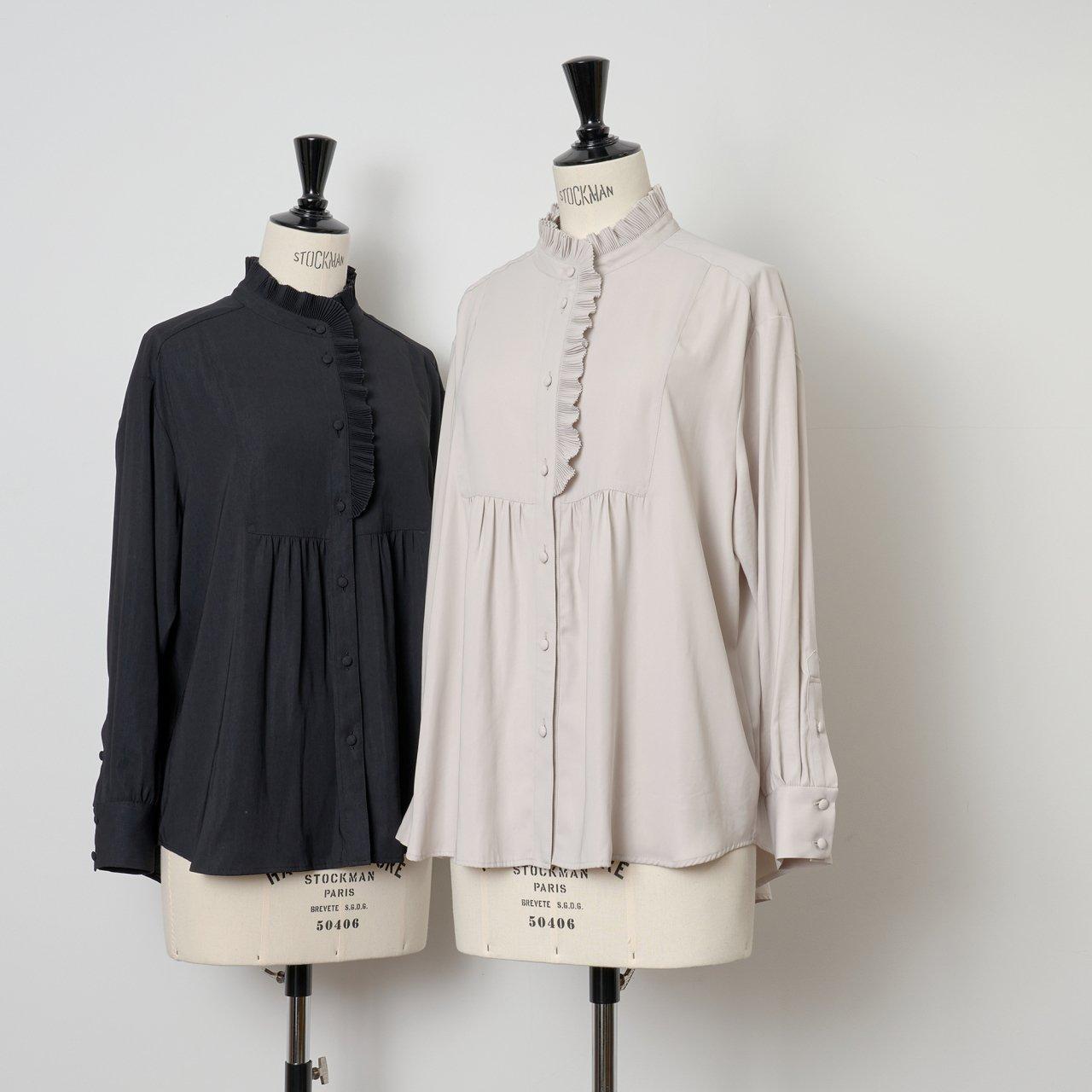 PaleJute<BR>Pleated blouse sophie<BR>pale jute