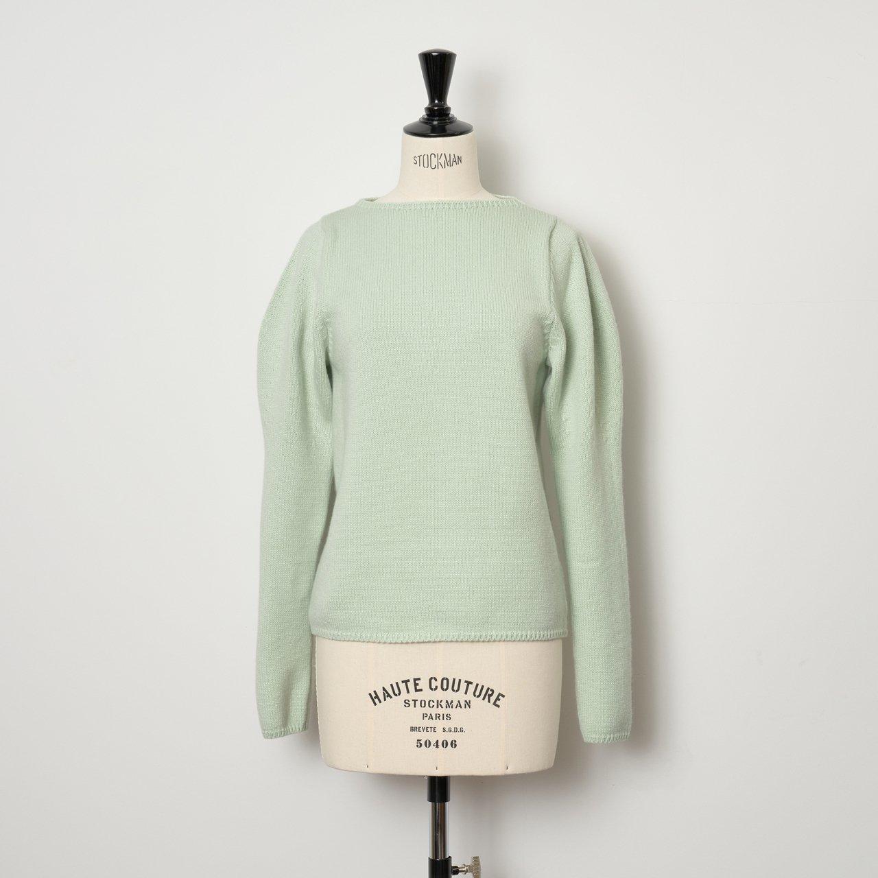 pelleq<BR>Puff sleeve jumper<BR>mint green
