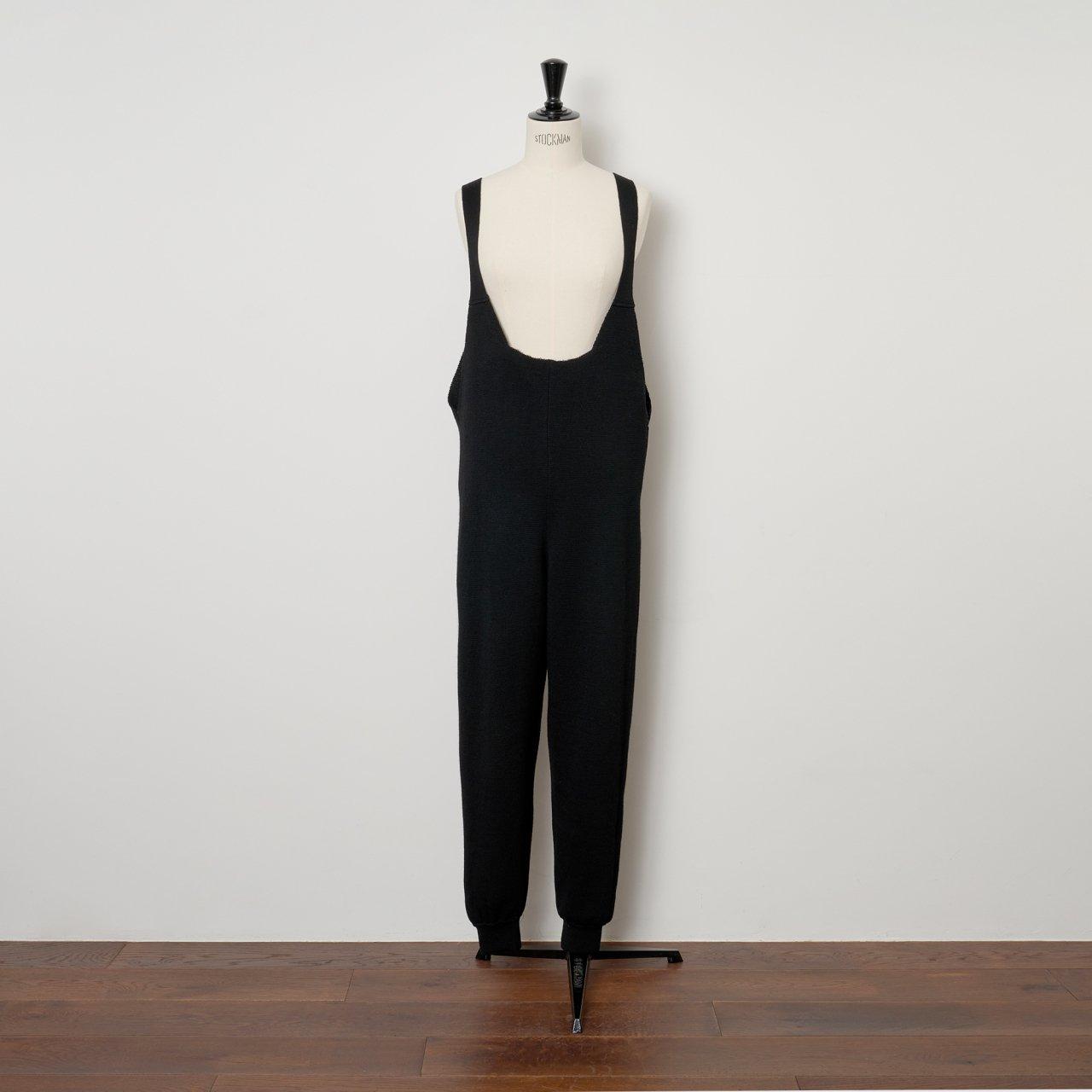 pelleq<BR>Knitted salopette<BR>black