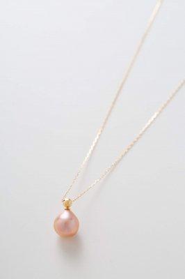Metallic pearl ネックレス ドロップ