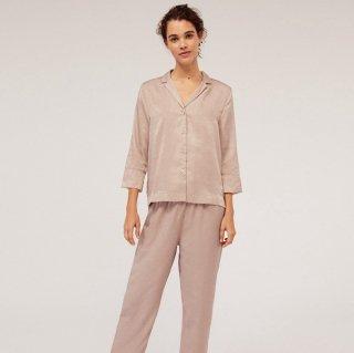 出産準備や産後におすすめ 大人かわいいプチドットの長袖セパレートパジャマ ルームウェア