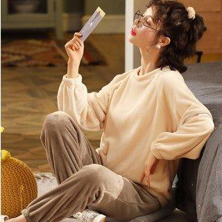 出産準備にもおすすめ ふわもこで大人かわいい長袖セパレートパジャマ ルームウェア 5色