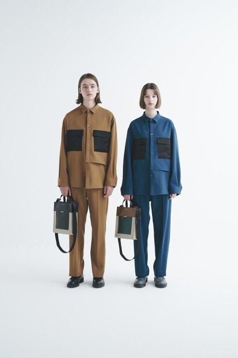 CULLNI 2020AW BIGフラップポケットシャツ