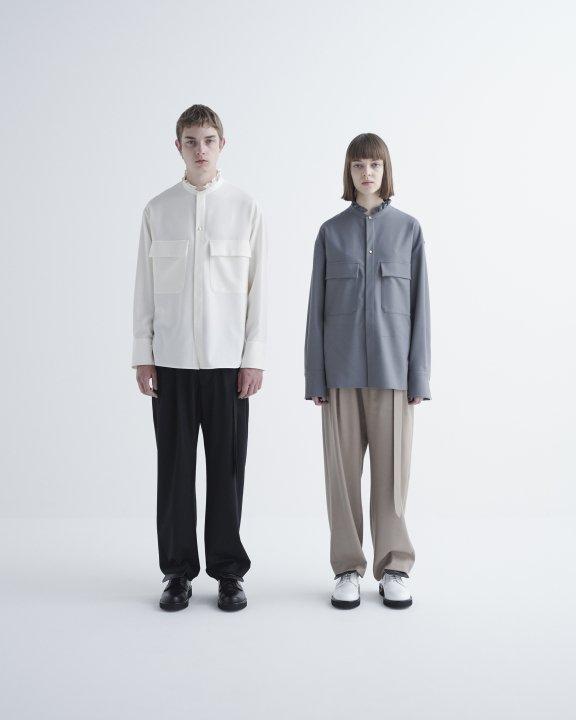 CULLNIフリルミリタリーシャツ