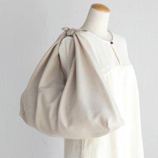 alinのあづま袋 Lサイズ 64cm 大きいショルダーバッグサイズ リネンあずま袋 マチ付き (ナチュラル)