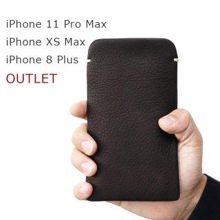 【アウトレット】iPhone 11 Pro Max/iPhoneXS Max/iPhone8 Plus 本牛革レザースリーブケース