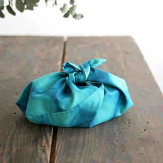 alinのあづま袋 S お弁当包み コットンあずま袋 マチ付き (海/ターコイズ)