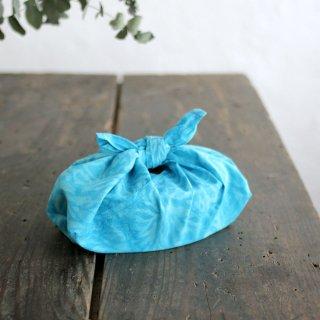 alinのあづま袋 S お弁当包み バティックあずま袋 マチ付き (珊瑚/ブルー)