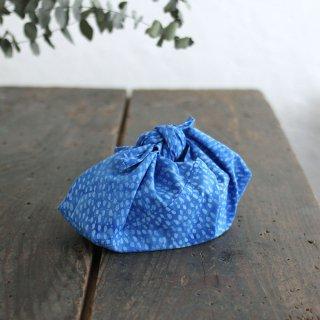 alinのあづま袋 S お弁当包み バティックあずま袋 マチ付き (雨縞/ブルー)