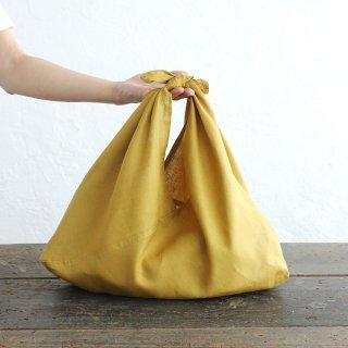 alinのあづま袋 M 50cm かごバッグに リネンあずま袋 マチ付き (マスタード)