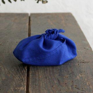 alinのあづま袋 S お弁当包み リネンあずま袋 マチ付き(ロイヤルブルー)