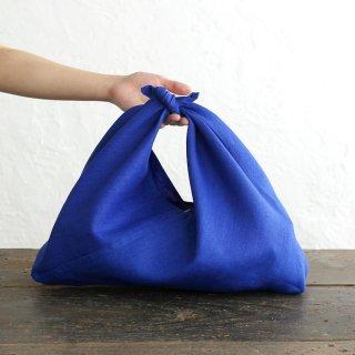 alinのあづま袋 M 50cm かごバッグに リネンあずま袋 マチ付き (ロイヤルブルー)