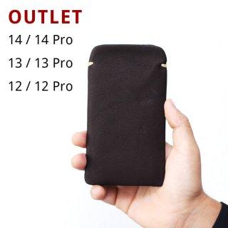 【アウトレット】iPhone12Pro / iPhone12(6.1インチ) 本牛革レザースリーブケース