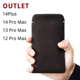 【アウトレット】iPhone12Pro Max(6.7インチ) 本牛革レザースリーブケース