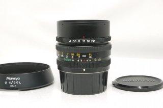 マミヤ G 50mm F4 L フード付 (ニューマミヤ6用) 極上美品