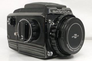 ブロニカ S2 ブラック ニッコールP・C 75mm F2.8 後期 極上美品