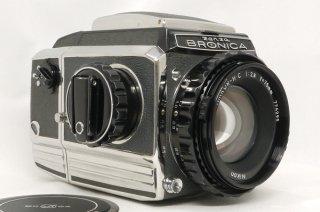 ブロニカ S2 後期 レンズは希少なNIKKOR-H・C 75mm F2.8 美品