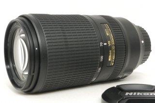 ニコン AF-P NIKKOR 70-300mm F4.5-5.6E ED VR 元箱、フード付 新品同様
