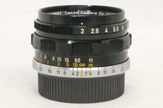 キャノン L 35mm F2 ブラック 美品
