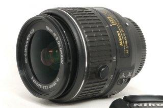 ニコン AF-S DX NIKKOR 18-55mm F3.5-5.6G VR � フード付 新品同様