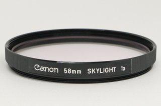 Canon 58mm SKYLIGHT 1× 元箱、説明書付 新品同様 送料無料