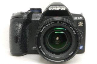 オリンパス デジカメ E-520 14-42mm付 電池2個付 極上美品