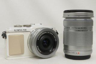 オリンパス PEN Lite E-PL7 ダブルズームキット 14-42mm、40-150mm 極上美品